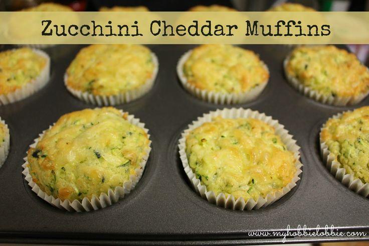 My Hobbie Lobbie: Zucchini Cheddar Muffins