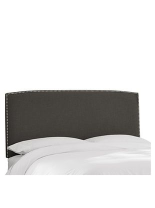 51% OFF Skyline Nail Button Headboard (Charcoal)