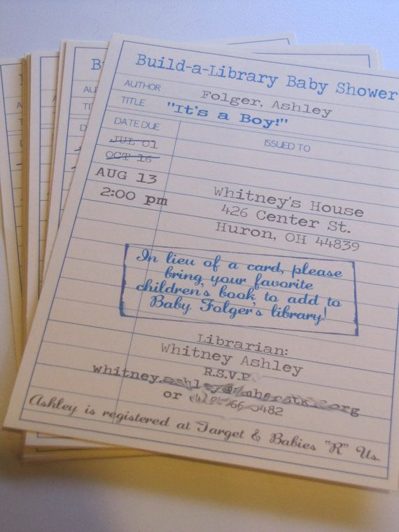 kitchen counter chronicles: Baby shower - build a baby's library -What a neat idea!