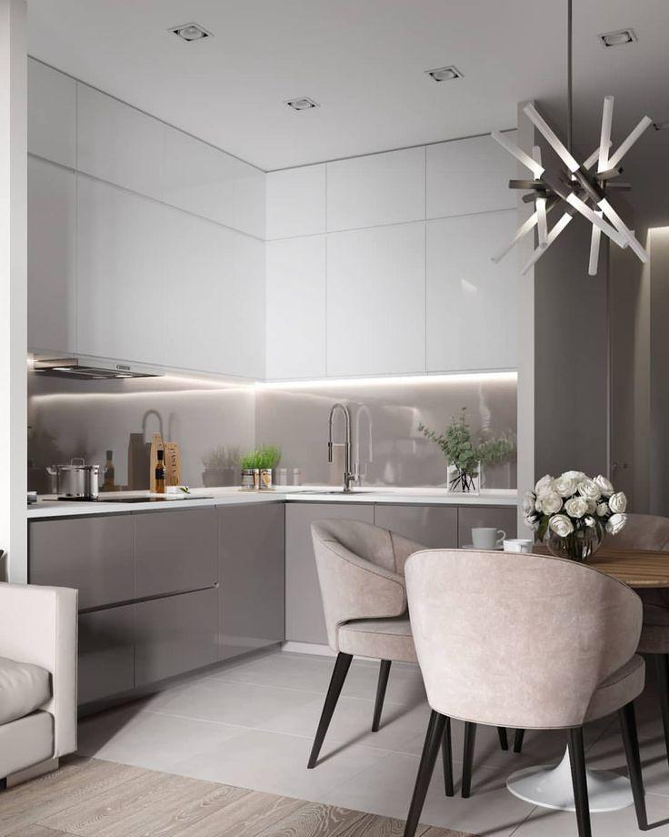 И еще один кадр видом на кухню в Санкт-Петербурге. (15 кв.м.) Дизайнер! Подыми квалификацию, обучись визуалить у нас! Пишите Вк, ссылка в профиле!