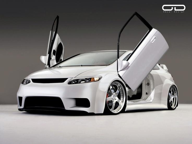 White Honda Civic Si Minus The Lambo Doors It S Clean