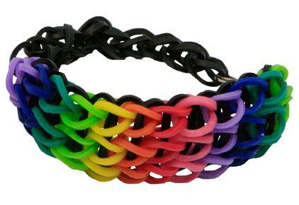 Pulsera de ligas de colores