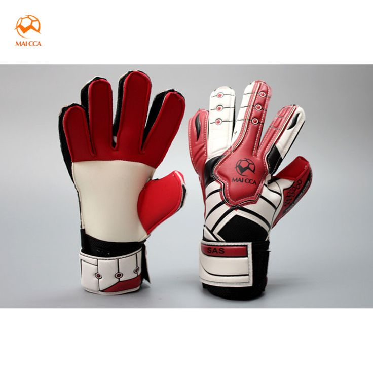 sale maicca children football goalie gloves professional finger protection thick latex kids soccer #latex #glove