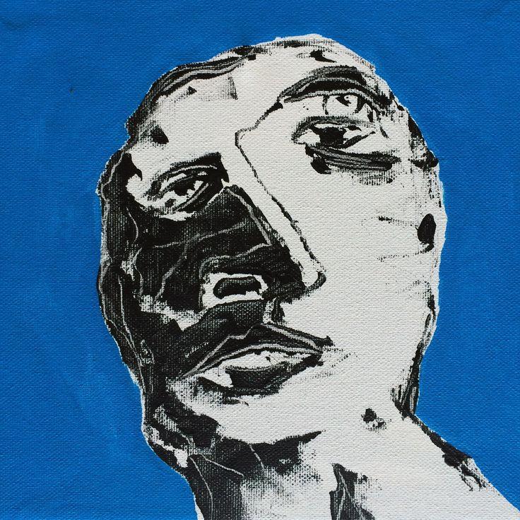 """""""Face XVI"""". 25x25 cm. Copenhagen 2015."""