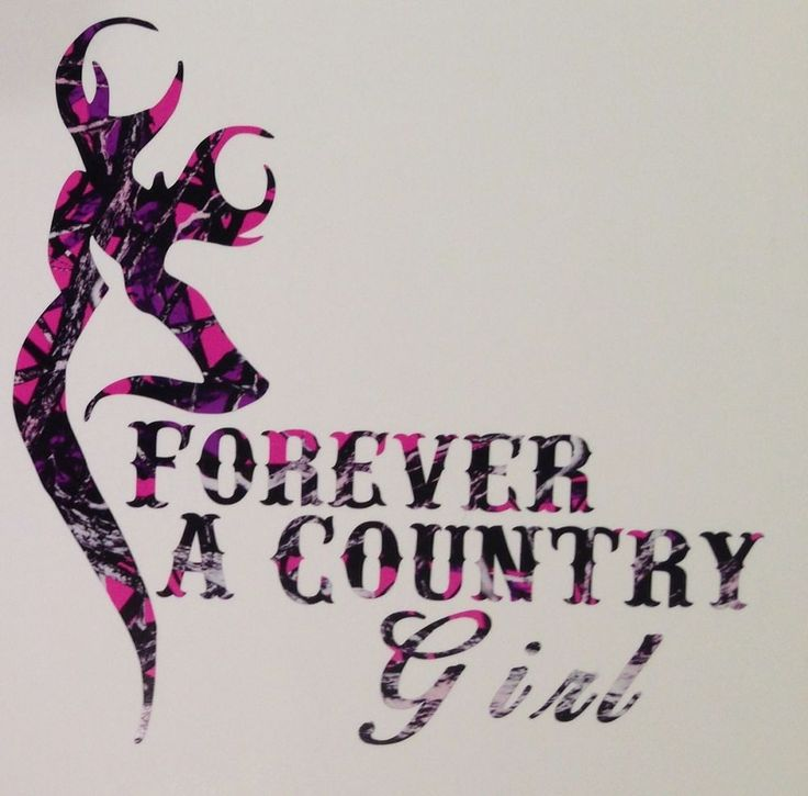 """Muddy Girl Pink Camo Forever A Country Truck Vinyl Decal 5"""" Hunt Deer Browning"""