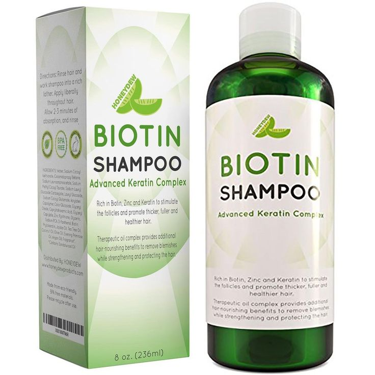 All Natural Biotin Shampoo Hair Loss Shampoo for Men and Women - DHT Blocker #Honeydew