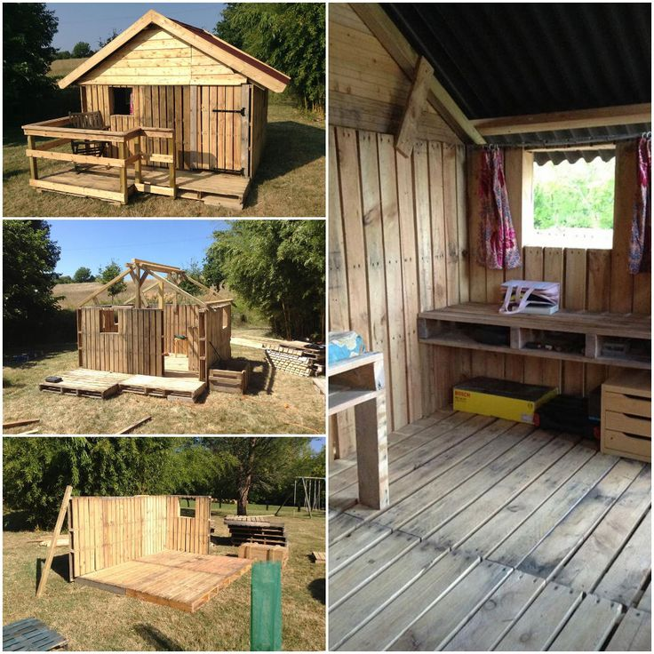 Nice little house made with salvaged canning pallets by Edwin de Barry ! Incredible work ! More information at Edwin de Barry !