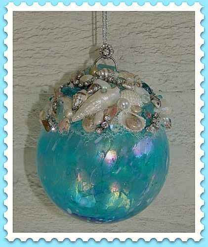 Aqua Seashell Ornament | Coming Soon to Elegance & Whimsy | Flickr