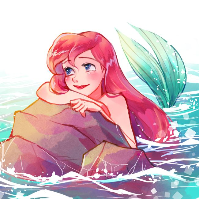 This is fanart of Ariel from Disney's The Little Mermaid done right. If she isn't lovestruck, she isn't Ariel.