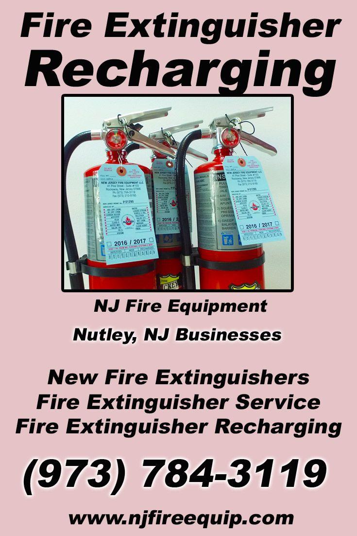 Fire Extinguisher Recharging Nutley, NJ (973) 7843119