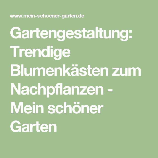 Gartengestaltung: Trendige Blumenkästen zum Nachpflanzen - Mein schöner Garten