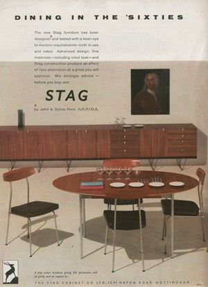 UK Stag furniture, by John & Sylvia Reid 1960