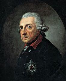 Friedrich II von Hohenzollern, der Große, von Preußen – Wikipedia. Anton Graff, 1781 ca.