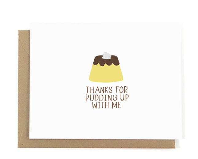 Tell 'em how grateful you are with this punny card.