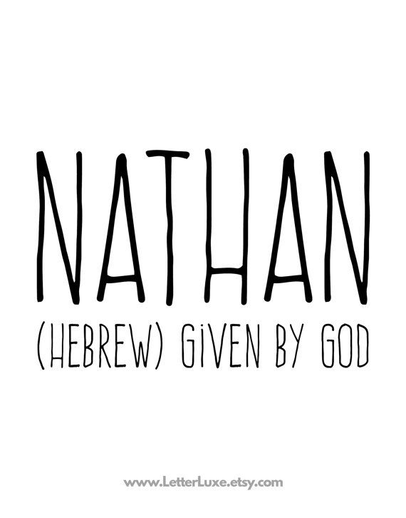 199 best name meanings images on pinterest baby names child room nathan printable kids gift name meaning by letterluxeprintables negle Gallery