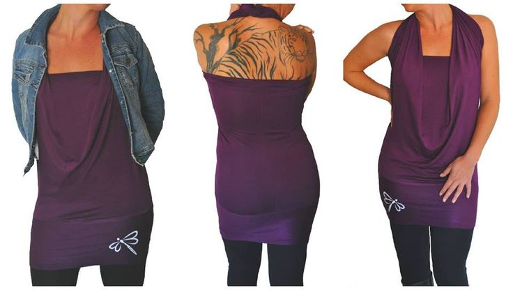 Dark Purple Infinity Top by EverWear Can be worn 4 different ways and 18 colours to choose from.