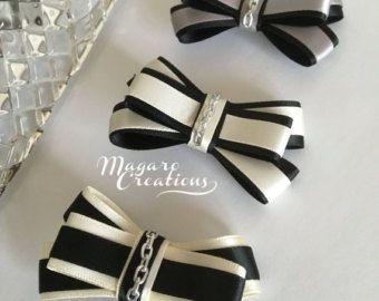 Hair accessorieshair bowshair clipsgirl by MagaroCreations on Etsy