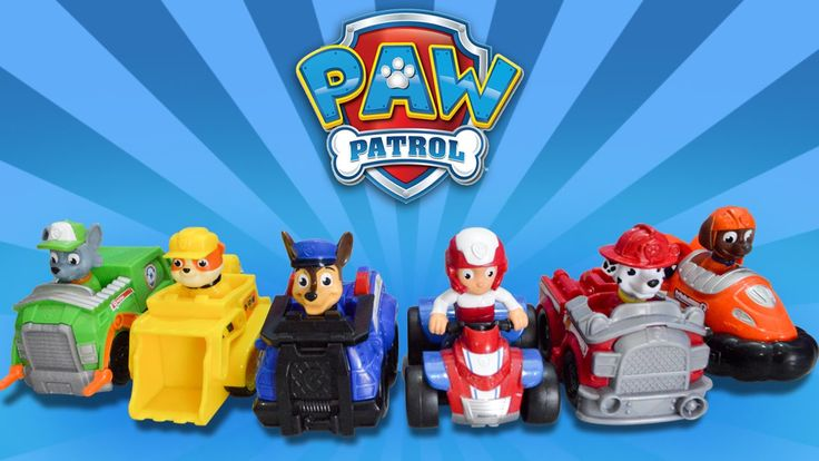 Paw Patrol Rescue Racers Ryder Chase Marshall Rocky Rubble Zuma Toy Review