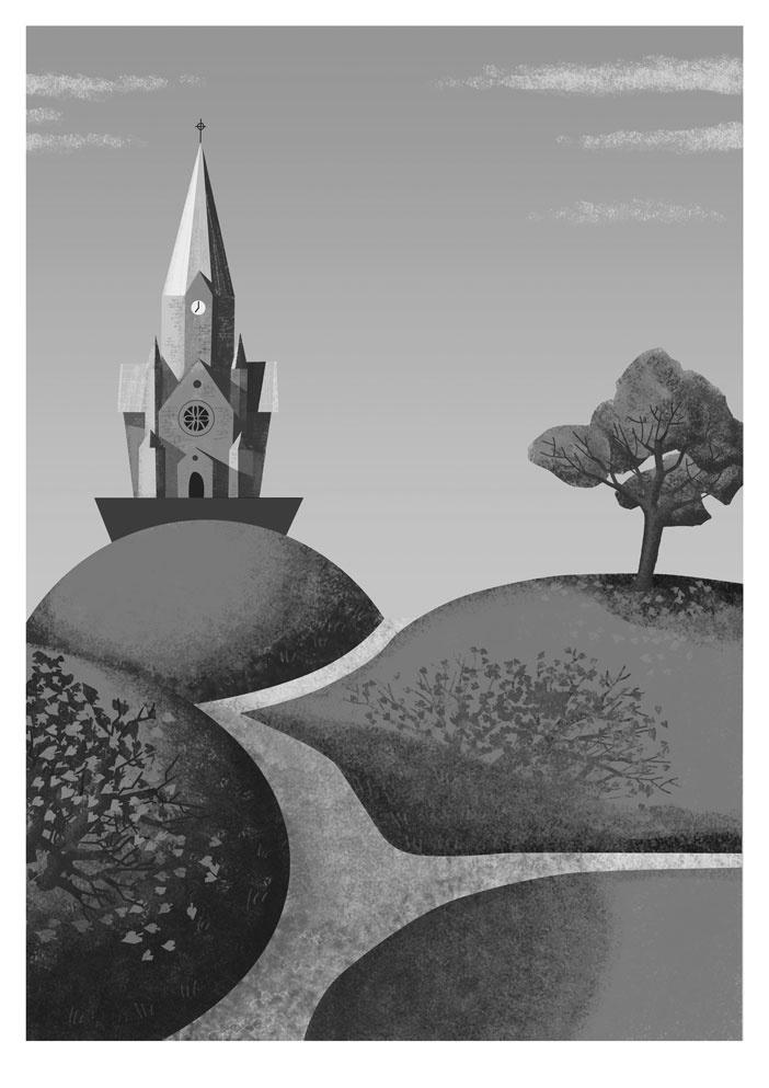 Vita Bergen, Stockholm, illustration by Fredrik Skyllbäck