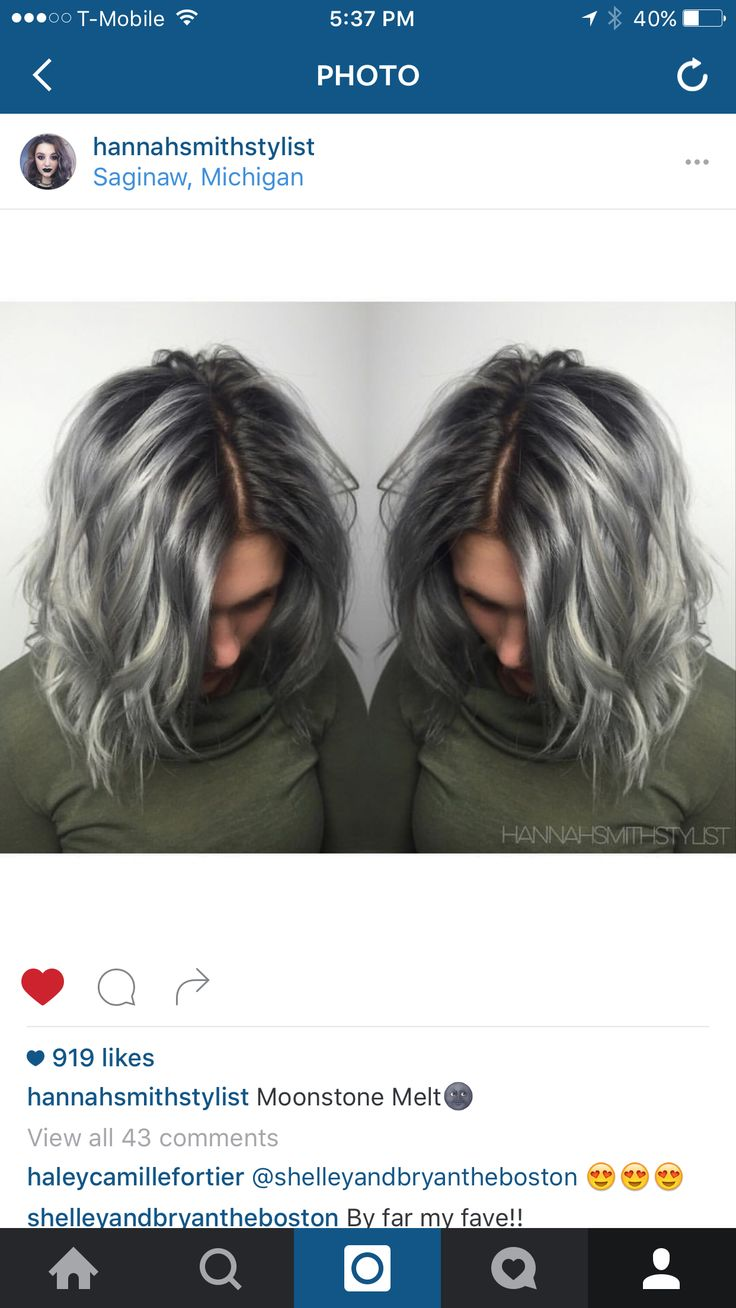 Kenra Color! Metallics. Silver Hair. Shadow root. Love!!!!
