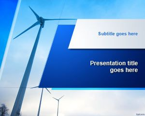 16 best ecology backgrounds for powerpoint images on pinterest free wind turbine powerpoint template free powerpoint templates toneelgroepblik Image collections