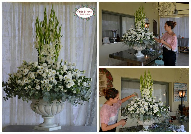 Orit Hertz - Floral Design School - Private lesson, designing a reception design