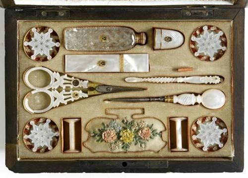 Mother of Pearl sewing tools.  Palais Royal. The Palais Royal is in Paris ~ some of the most beautiful antique shops you can find ~ Epi