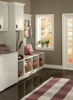 """Benjamin Moore Affinity : The Best Neutral / Beige / Gray Paint Colours - Kylie M Interiors - WEIMARANER AF155 - """"brown with grayish feel, slight purple tone"""""""
