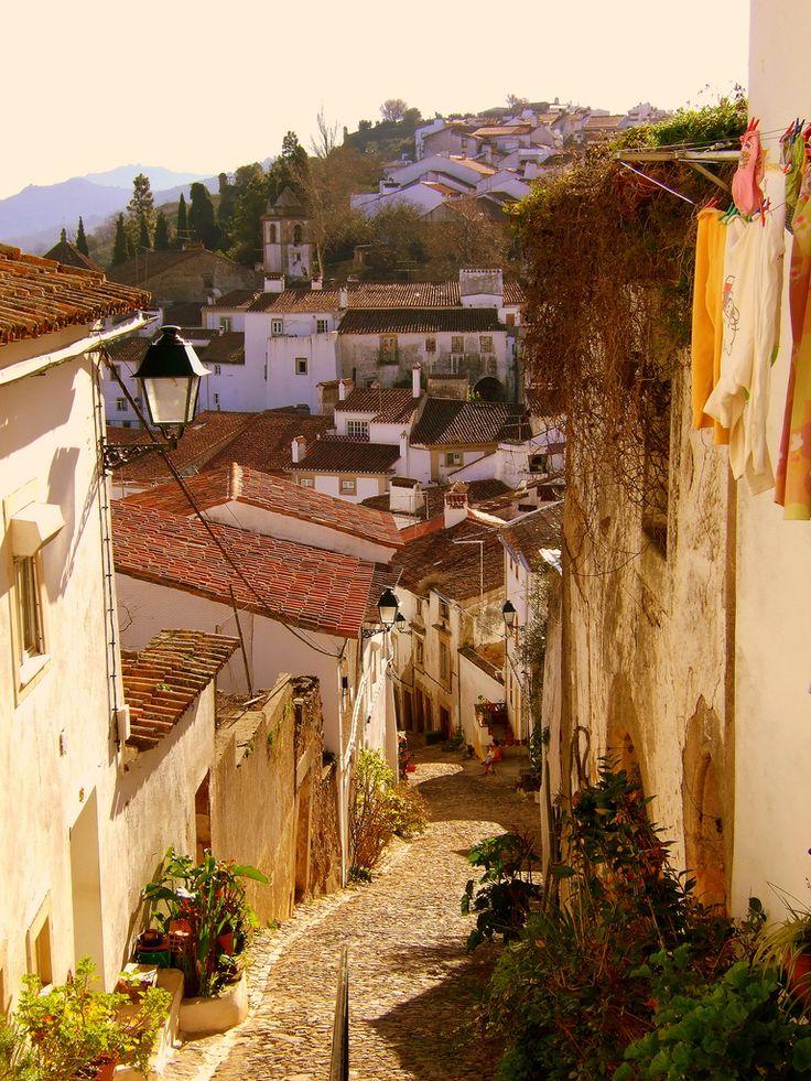 Alentejo, Rua da Judiaria.Castelo de Vide, Portugal