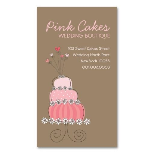 520 best Bakery Business Card Templates images on Pinterest Tags - birthday cake card template