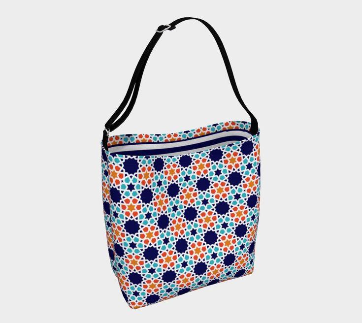 Blue & Orange day tote. For more beautiful, eco, handmade yoga and swim leggings, crop tops, mini shorts, kimonos, beanies, and more, go to www.sleepysweats.com.  #leggings #highquality #eco #organic #performance #yoga #surf #surfwear #swim #summer #swimwear #trend #scarves #scarf #beanie #headband #buff #fashion #2018 #kimono #robe #peignoir #bags #totes #handbag #neoprene #gift #idea #lady #woman #mom #babyshower #pregnancy #beautiful