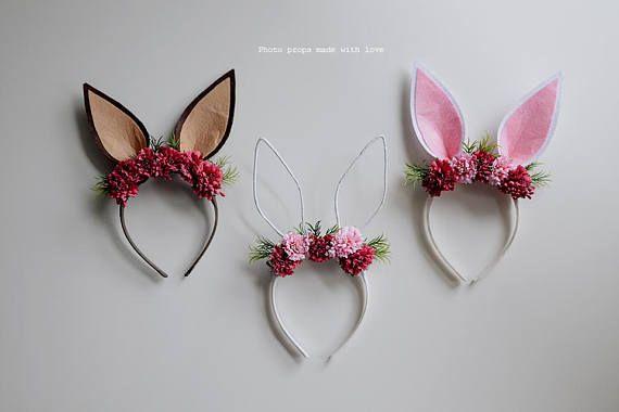 Easter bunny headband prop