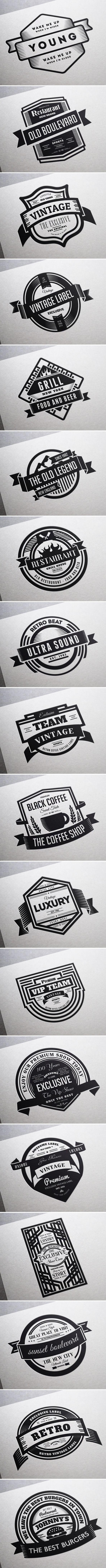 18 Vintage Labels & Badges / Logos / Insignias on Behance