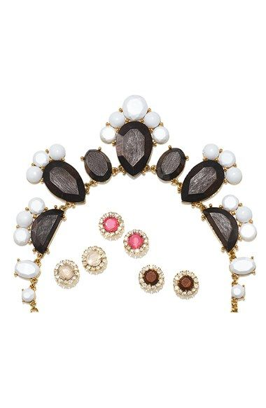 These sparkly Kate Spade mixed stone stud earrings are simply beautiful.