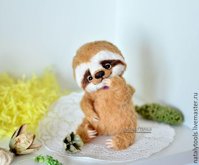 Sloth toy artist natalytools teddy bear stuffed animal Купить малыш Ленивец 2коллекционная игрушка ленивец тедди - Праздник, подарок девушке, natalytools