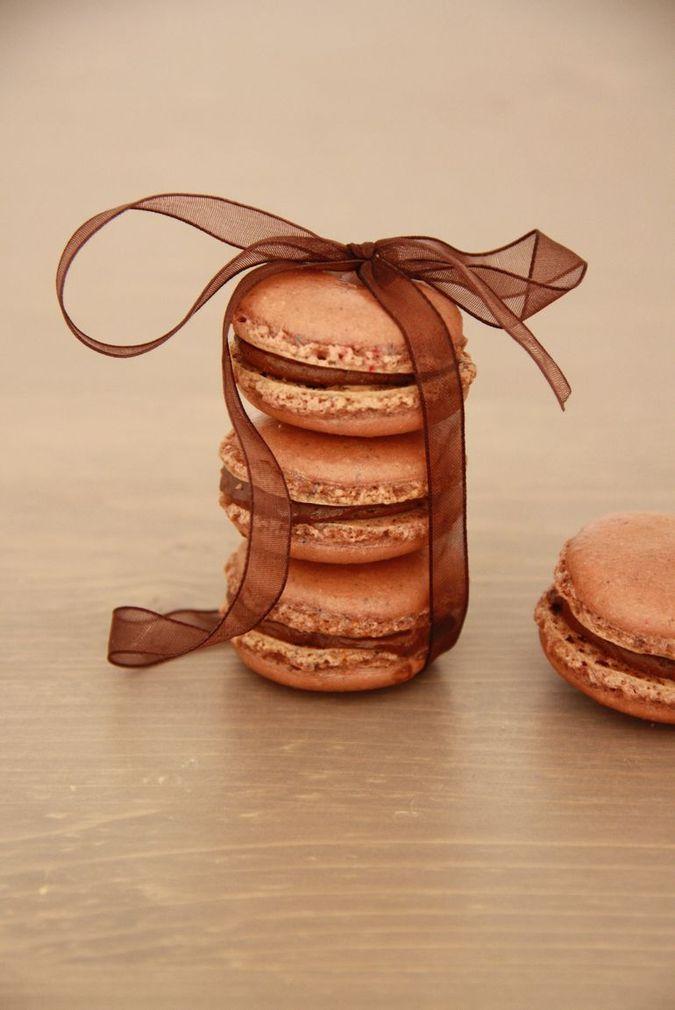 Czekoladowe makaroniki francuskie / macarons au chocolat / chocolate macaroons