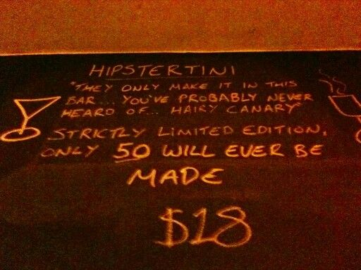 Hipster martini