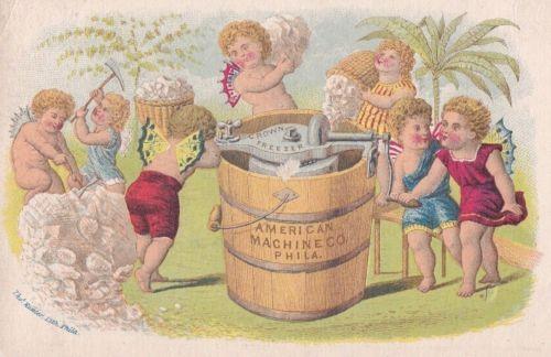 Crown-amp-Co-American-Machine-Ice-Cream-Maker-Freezer-Victorian-Trade-Card