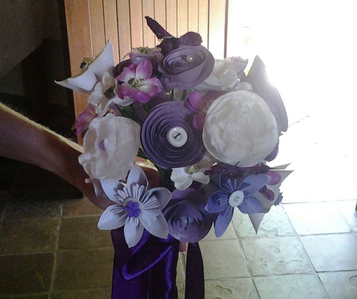 Paper flowers I've made for my sons wedding