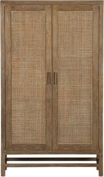 Blake Grey Wash 2-Door Cabinet   Crate - tropical - dressers chests and bedroom armoires - Crate