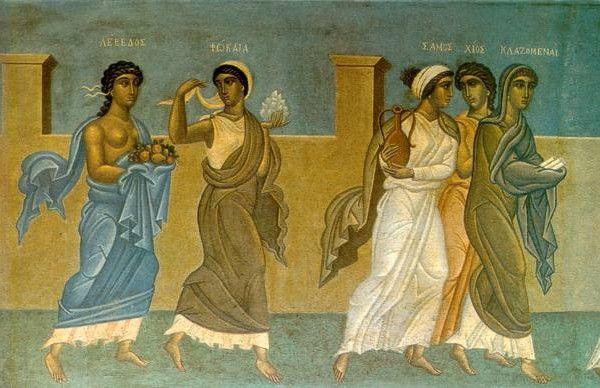 Λεπτομέρεια από Ιωνική Δωδεκάπολη (1938) Τοιχογραφία στο Δημαρχείο Αθηνών