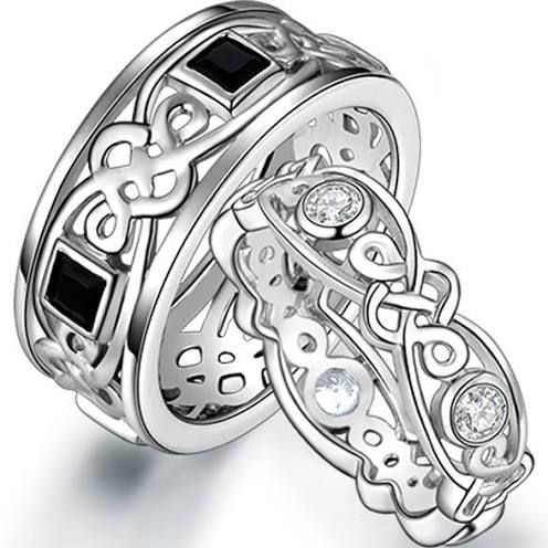 matching celtic wedding bands