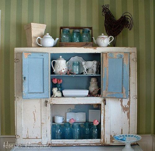 Hoosier Cabinet Decorating For Spring