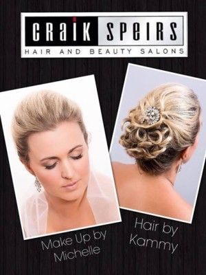 wedding hair & make up by Michelle Speirs from Craik Speirs Hair & Beauty