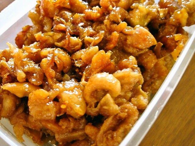 味見完食注意!ビールが、ごはんがウマい!鶏皮の甘辛生姜焼き | 週末の作り置きレシピ