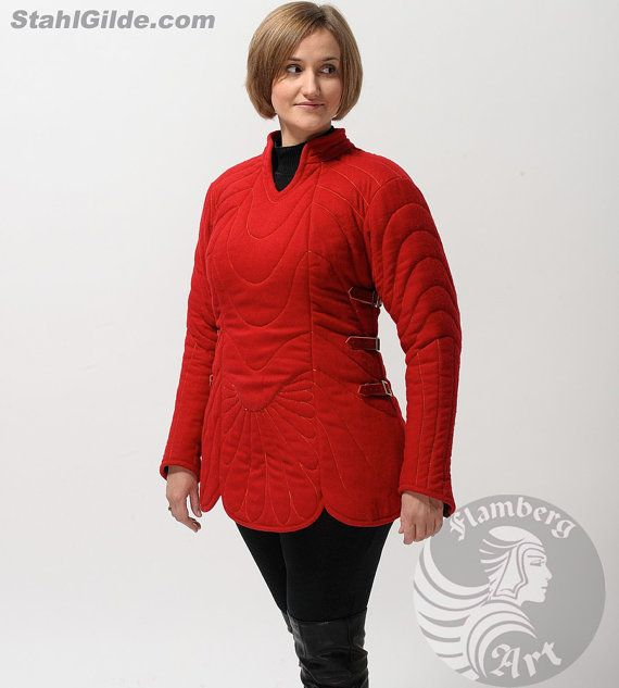 Larp Medieval Fantasy female gambeson for female armor (2 layers)