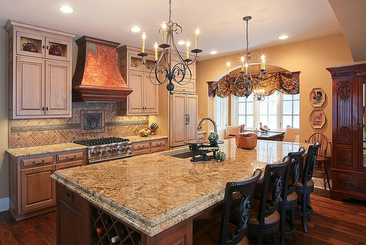 Mediterranean Kitchen - Found on Zillow Digs.  Love the granite edge and elegance.