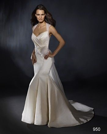 Marisa - Sweetheart Mermaid Gown in Silk Satin with Chapel train.    Style Number:32614026.  $2000+