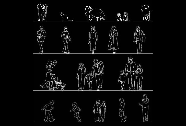 Free Download Of 150 Human Figure And Animal Autocad