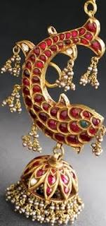 Temple jewellery - fish earrings